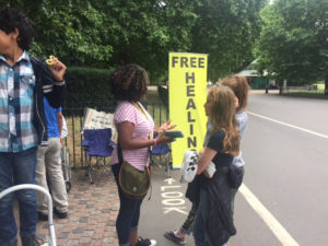 free healing corner hyde park london july 2017
