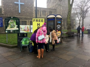 Free healing Watford, praying on the steets
